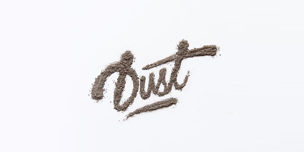 Custom Dirt Typography