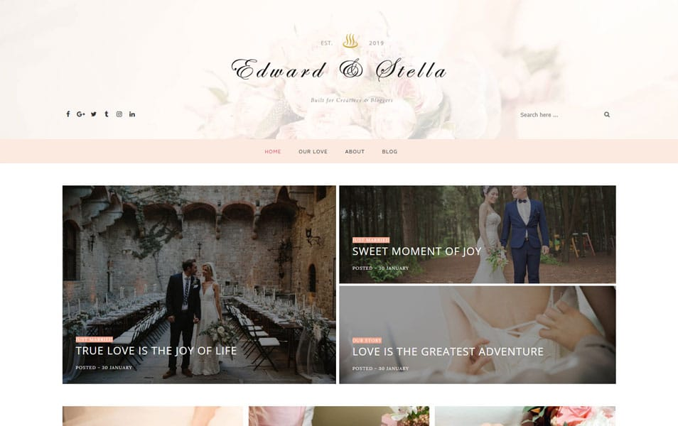 Edward & Stella Clean & Responsive Blogger Template