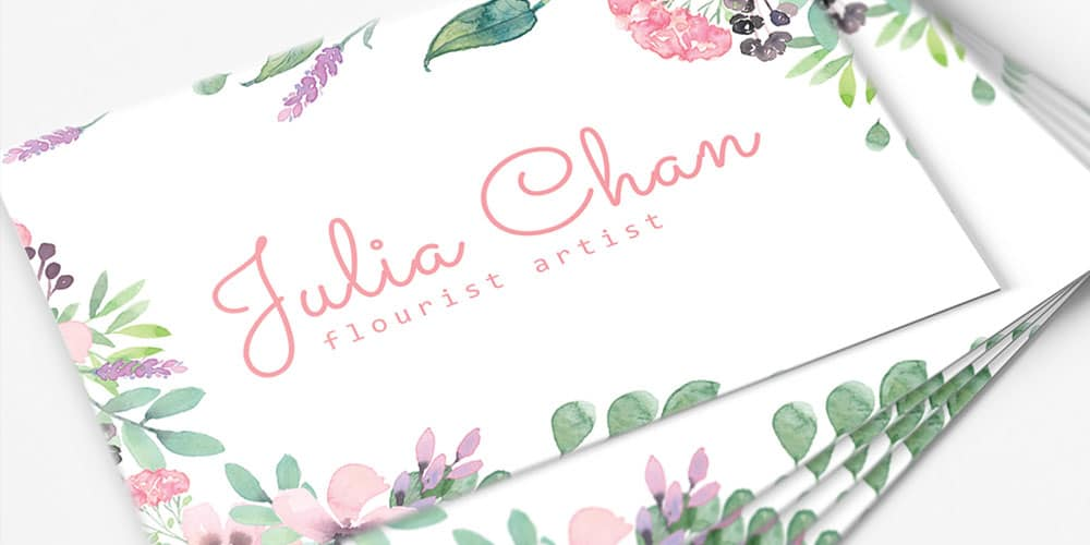 Floral Minimalist Business Card Template