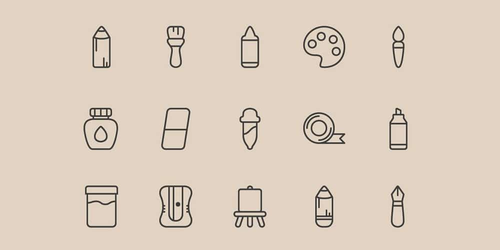 Free Art Tools Icons
