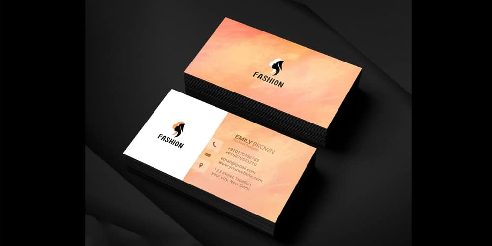 Free Fashion Designer Business Card PSD