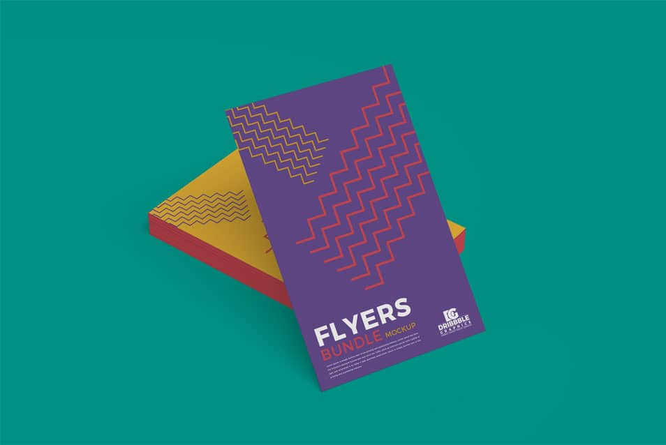 Free Flyers Bundle Mockup PSD For Branding
