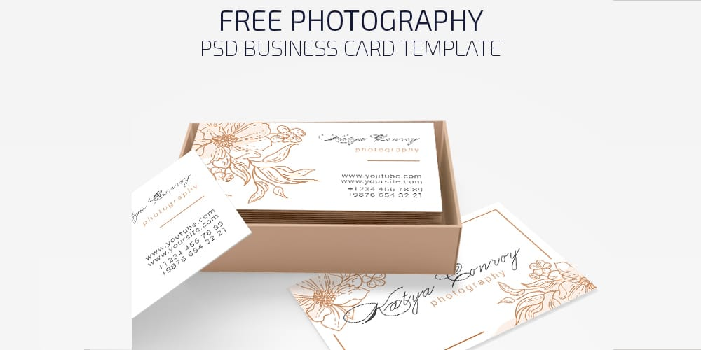 Free Photography Business Card in PSD