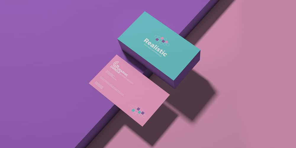 Free Realistic Business Card Mockup PSD