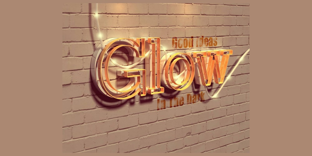 Glowing 3D Text Effect With Filter Forge and Photoshop