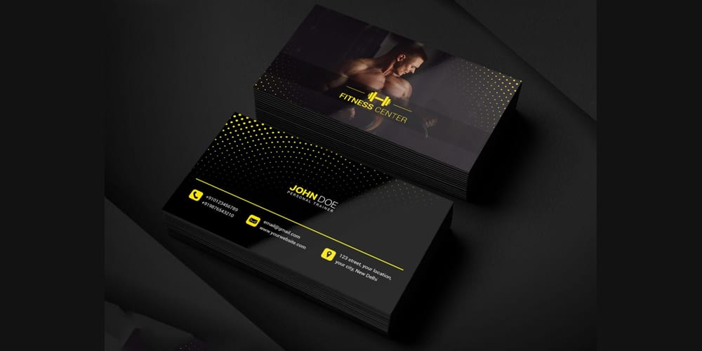 Gym Business Card PSD