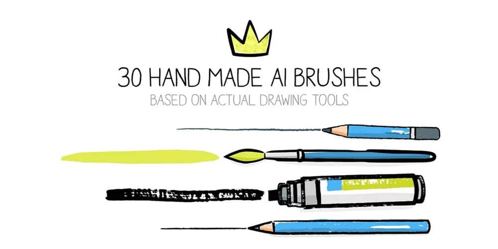 Hand-drawn Brushes For Illustrator