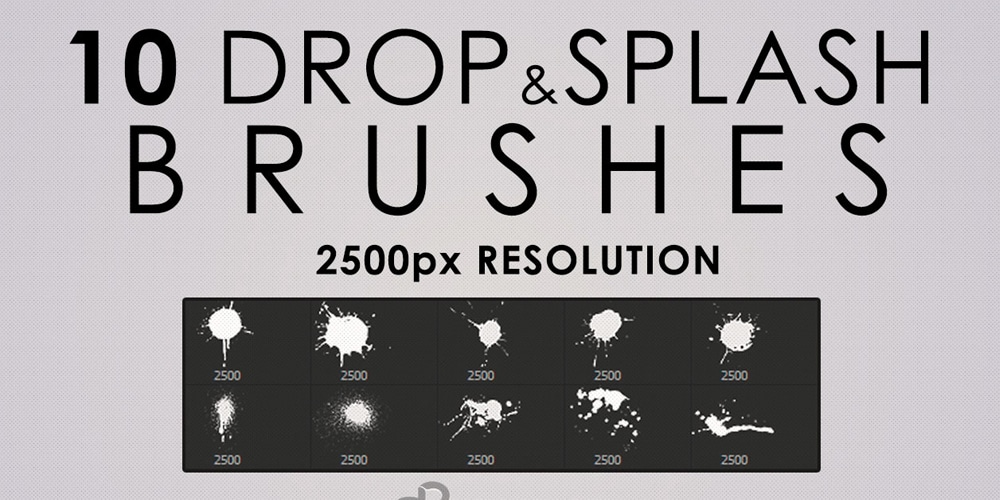 High-Res Drops and Splashes Photoshop Brushes