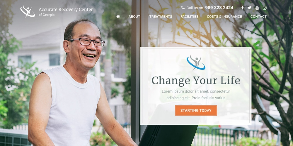 Homepage Template PSD for Healthcare Center