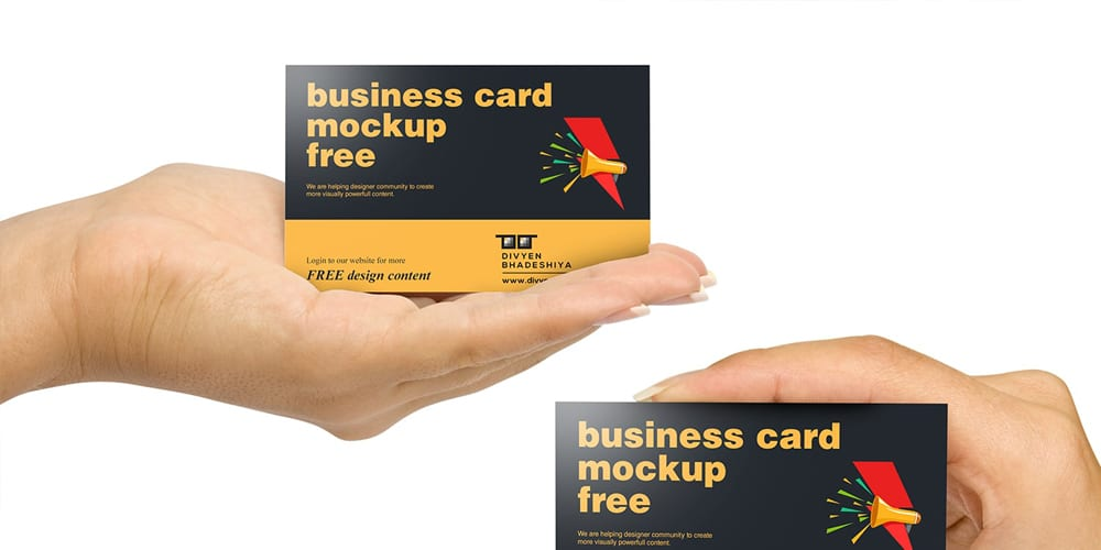 Horizontal Business Card Mockup PSD
