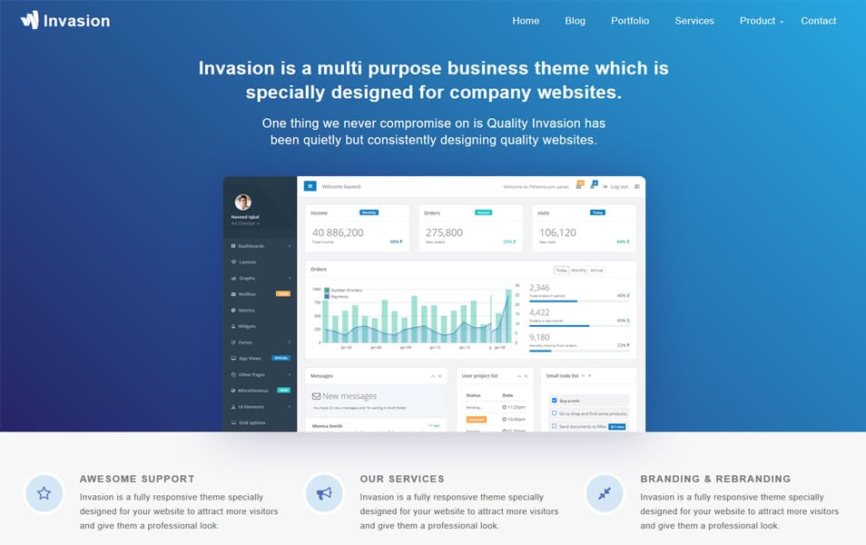Invasion Responsive Business Blogger Template