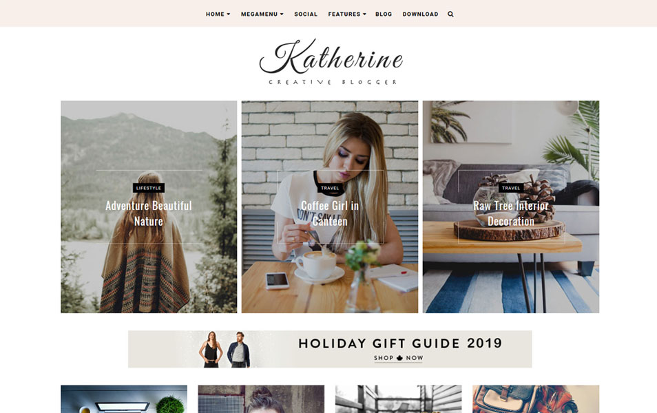 Katherine Responsive Blogger Template