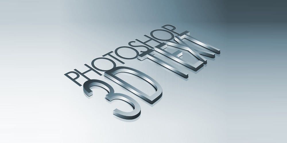 Metal 3D Text in Photoshop