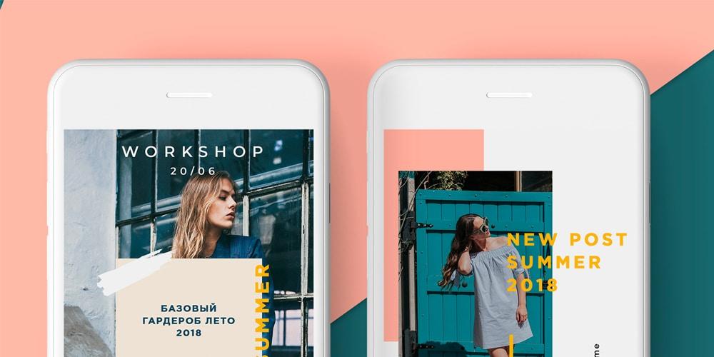 Minimal Fashion Instagram Stories PSD