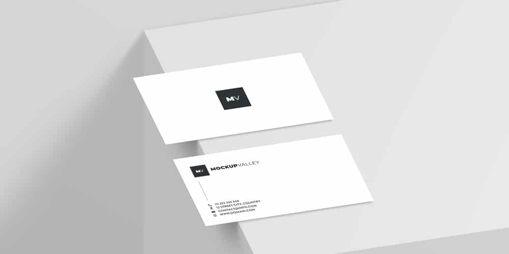 Minimalist Business Card Mockup PSD