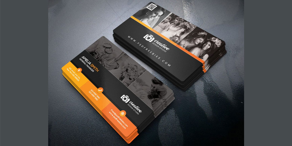 Professional Photographer Business Card Design PSD