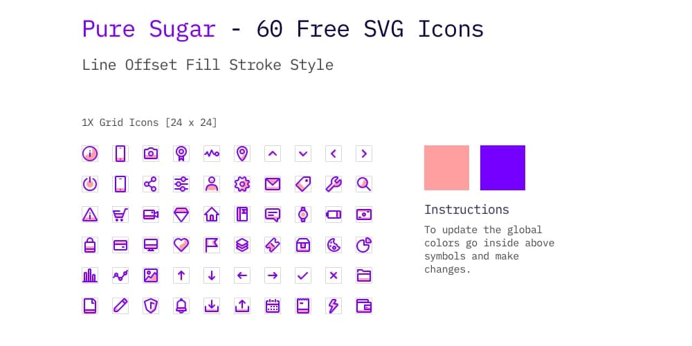 Pure Sugar Free SVG Icons
