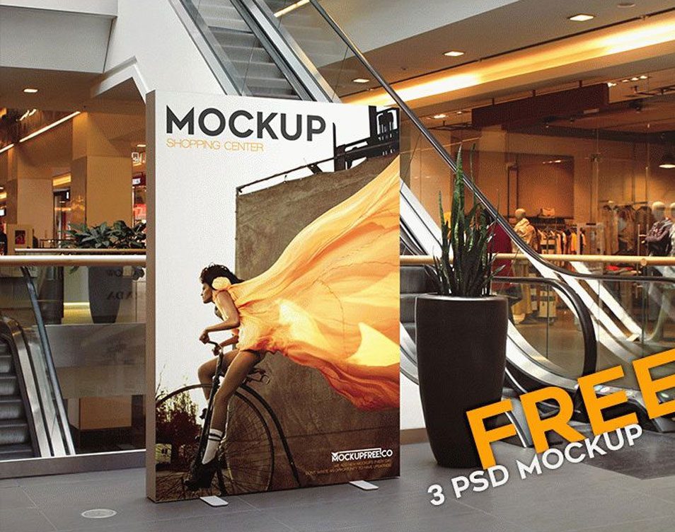 Shopping Center – 3 Free PSD Mockups