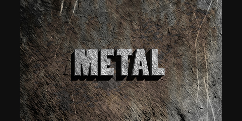 Simple 3D Text Metal Effect