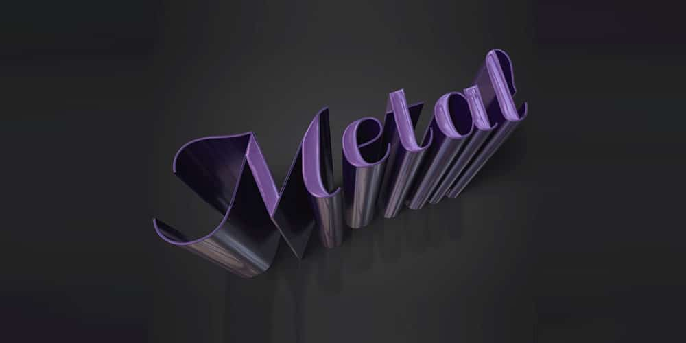 Sleek Metallic 3D Text Effect