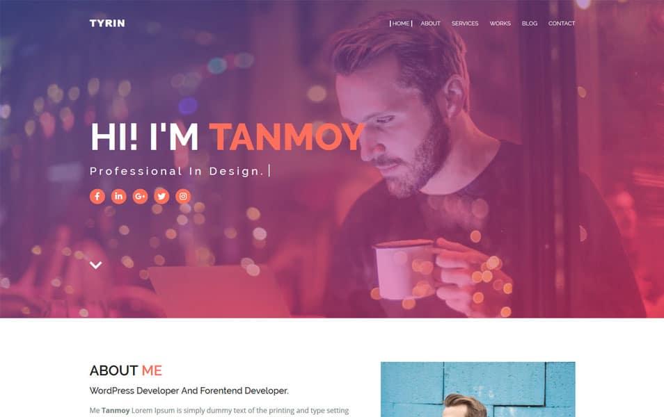 Tyrin Responsive Portfolio Blogger Template