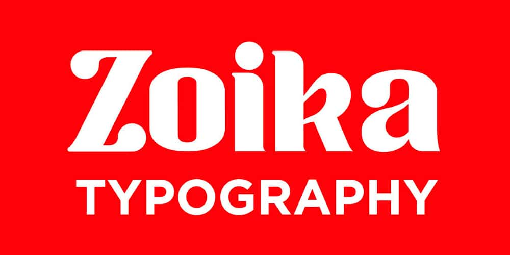 Zoika Display Font