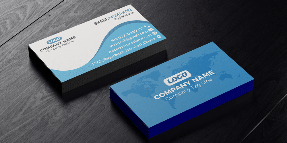 Business Card Design Mock Up PSD