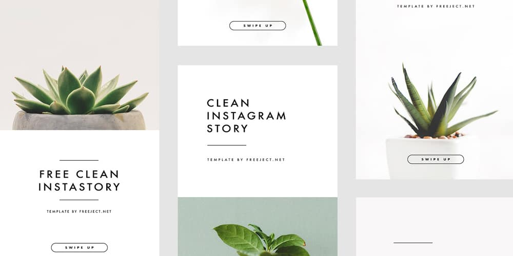 Clean Instagram Story Template PSD