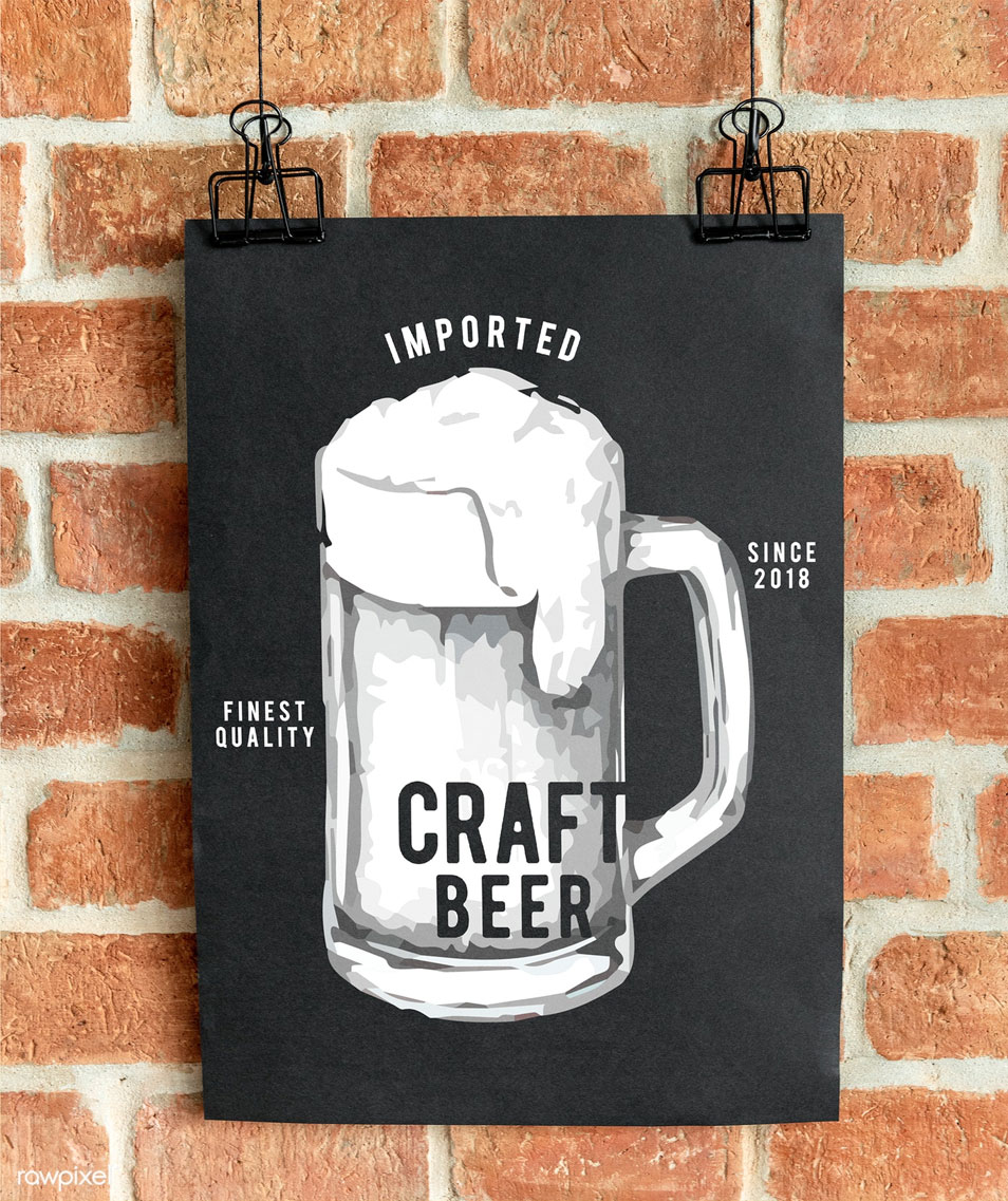 Craft Beer Pub Poster Mockup
