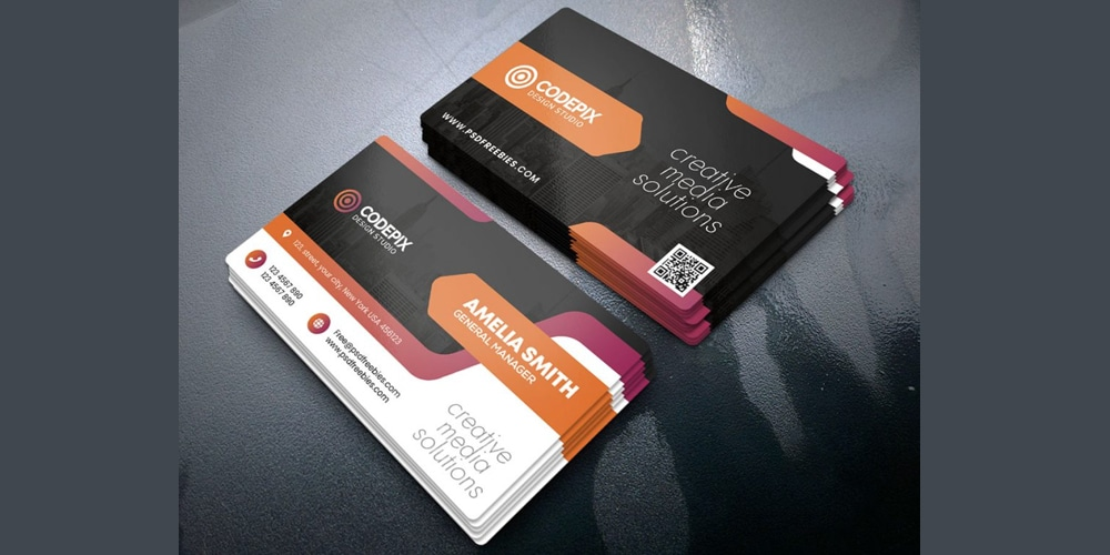 Creative Business Card Print Template PSD