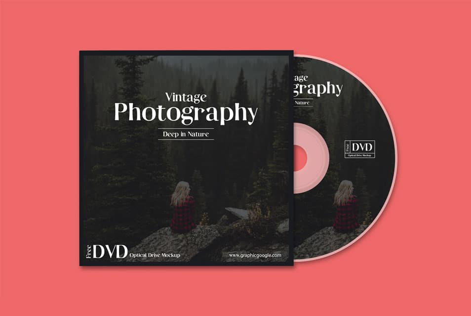 Free DVD Optical Drive Mockup
