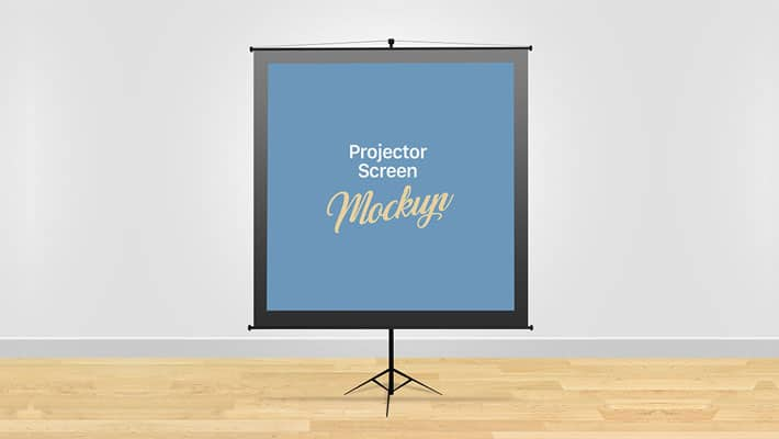Free Meeting Projector Screen Board Mockup PSD