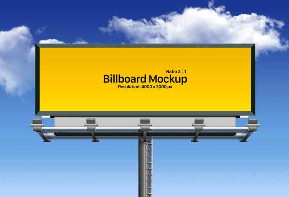 Free Outdoor Advertising Billboard Mockup PSD