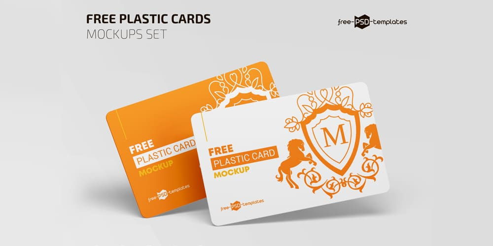 Free Plastic Business Card Mockup PSD
