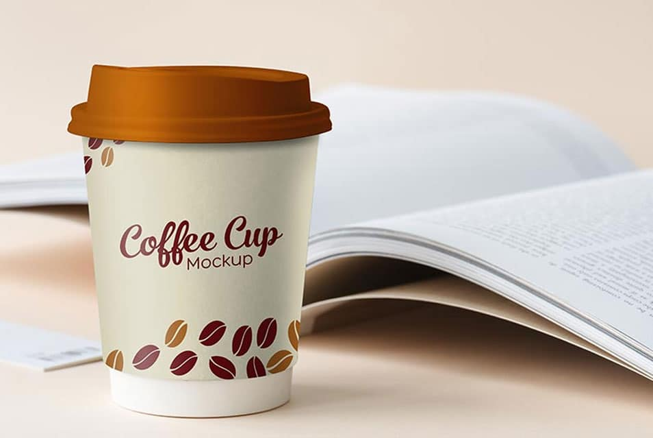 Free Small Paper Coffee Cup Photo Mockup PSD