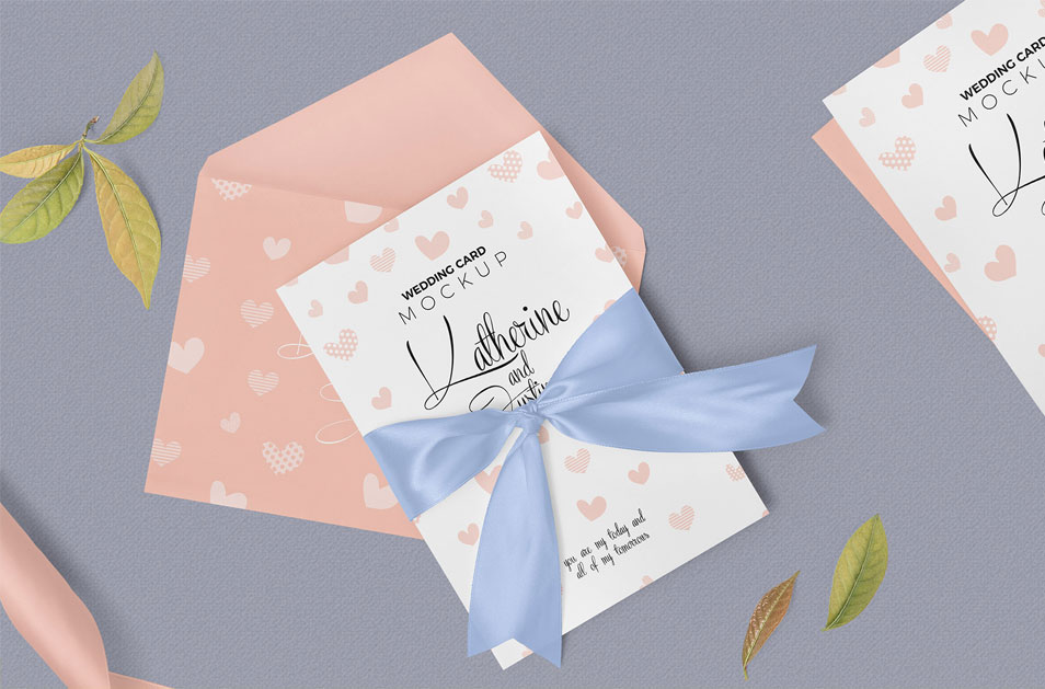 Free Sophisticated Wedding Invitation Mockup