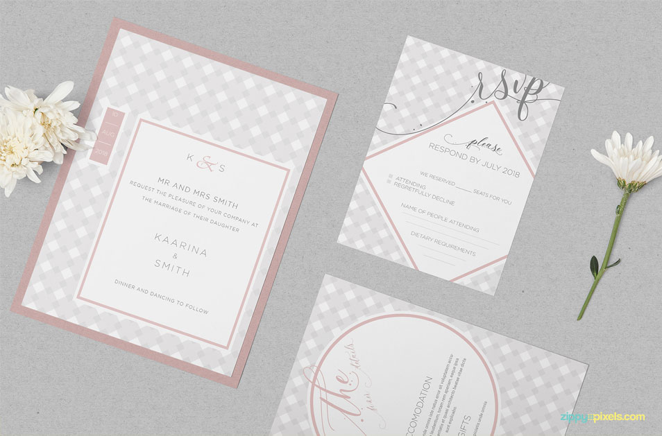 Free Wedding Invitation Mockup PSD