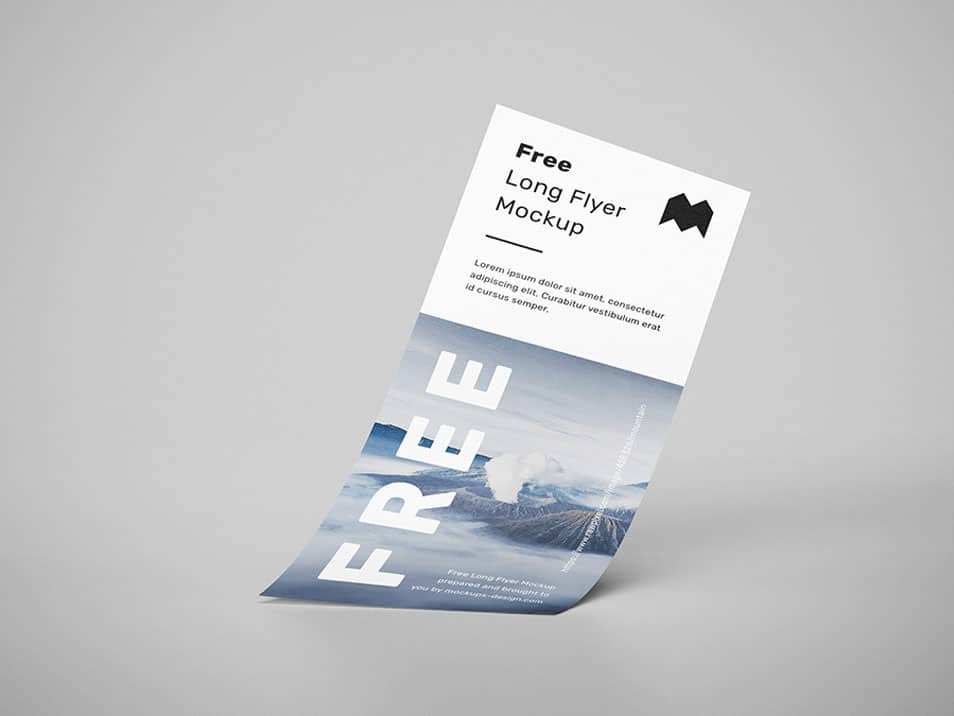 Free Long Flyer Mockup 187 Css Author