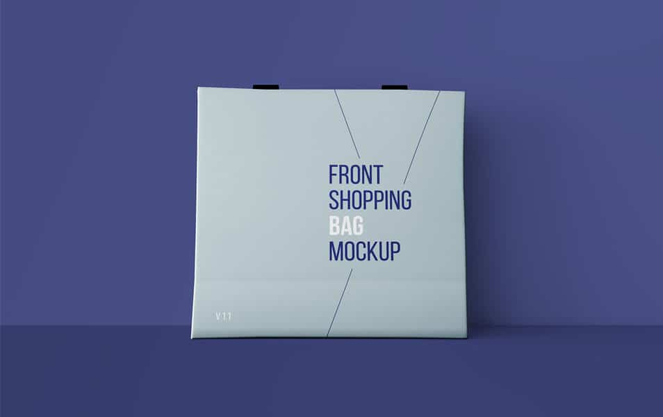 Front Shopping Bag Mockup