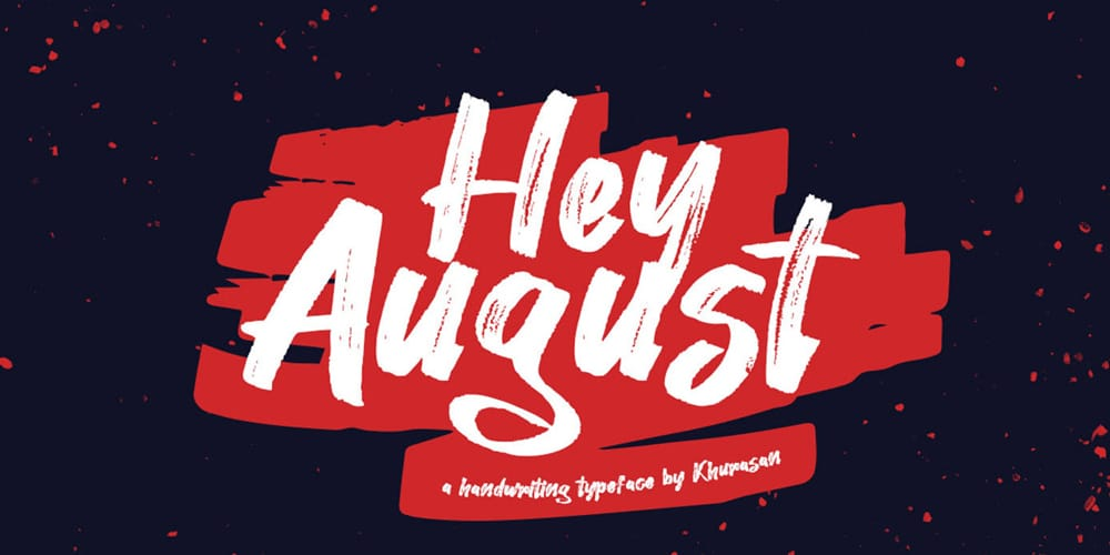 Hey August Handwritten Font