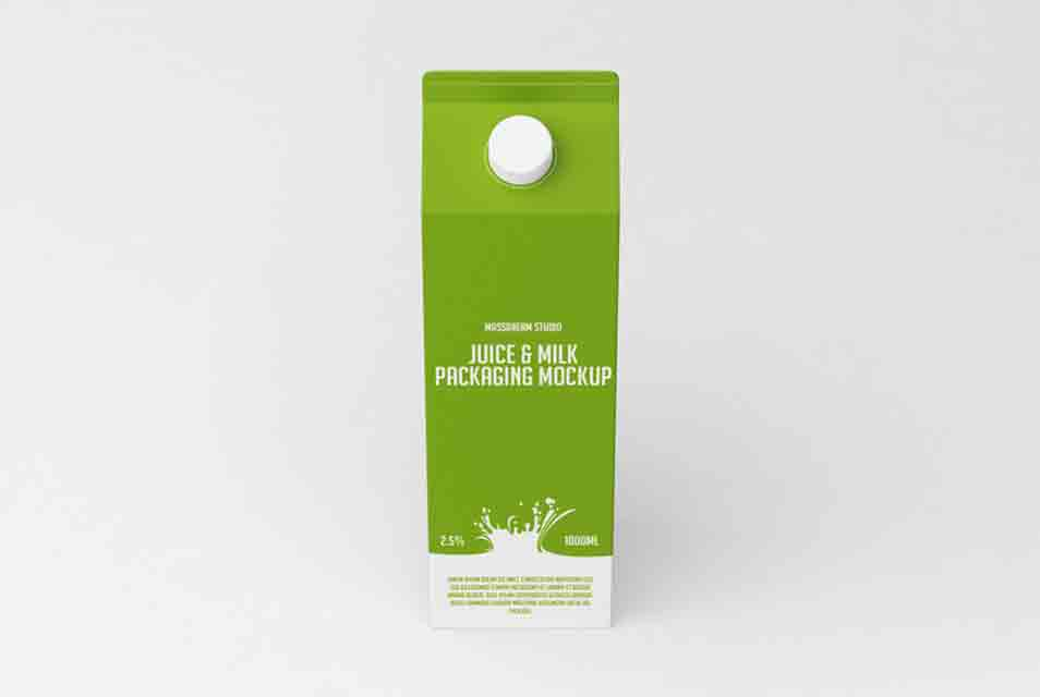 Juice / Milk Packaging Mock-Up