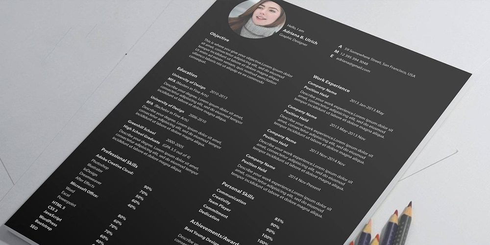 Latest Format of Resume PSD