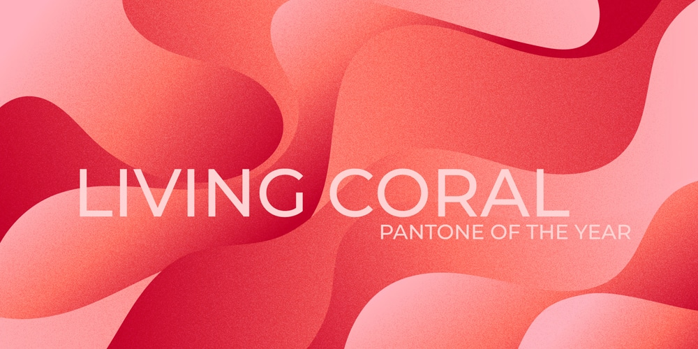 Living Coral Abstract Backgrounds