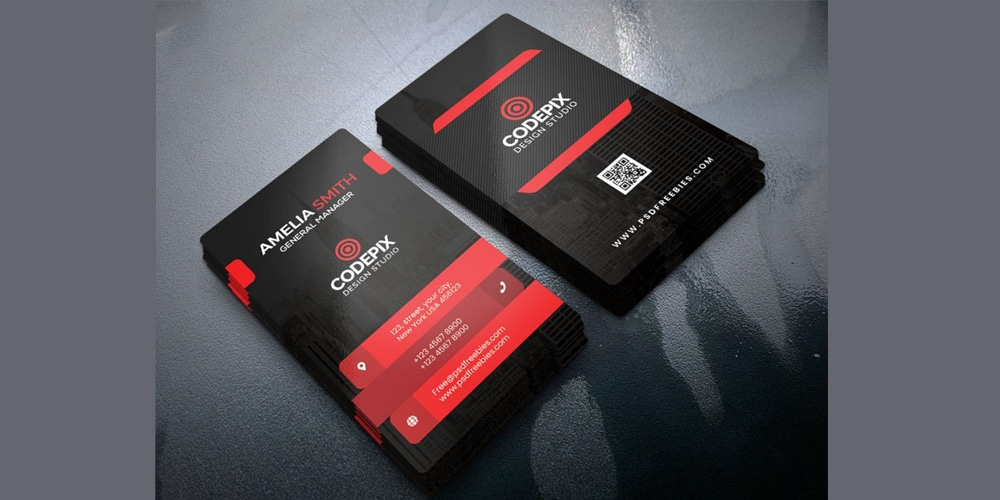 Premium Corporate Business Card PSD