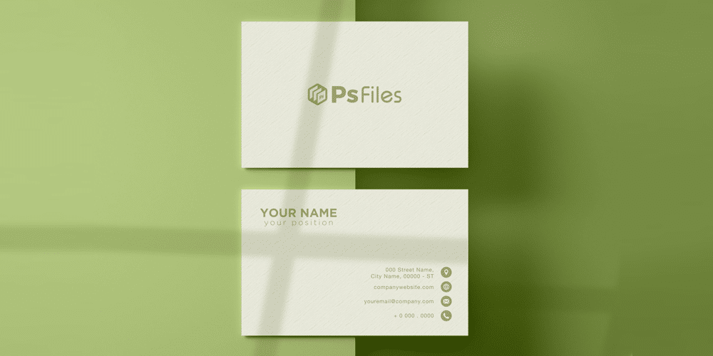Shadow Overlay Textured Business Card Mockup
