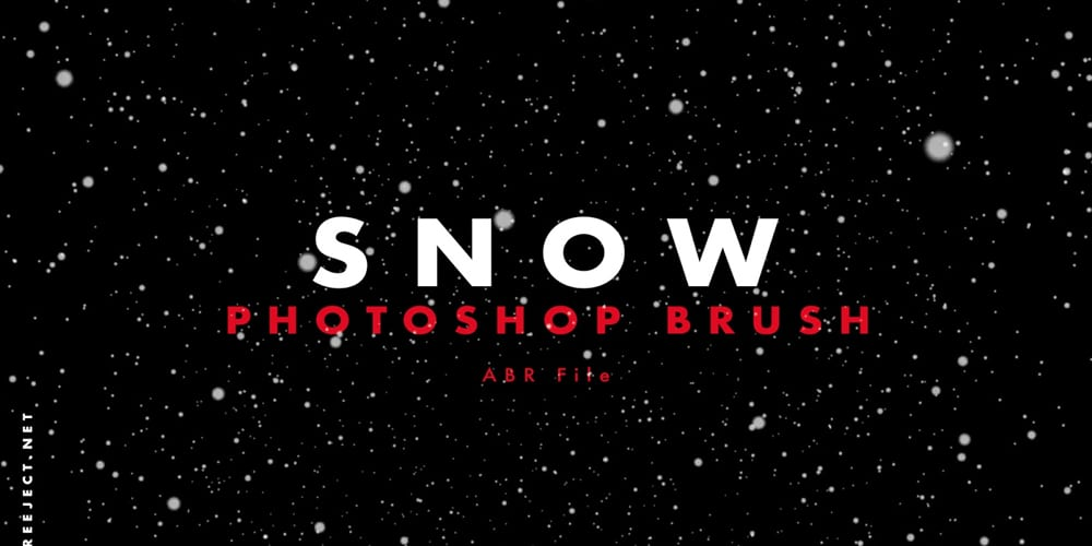 Snow Texture Photoshop Brushes