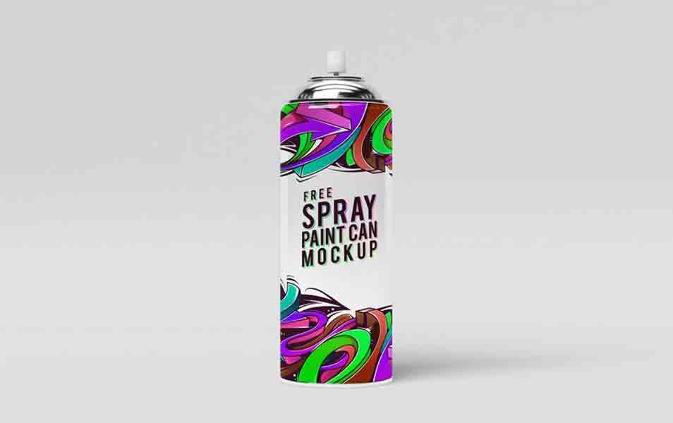 Spray Paint Can Mock-Up