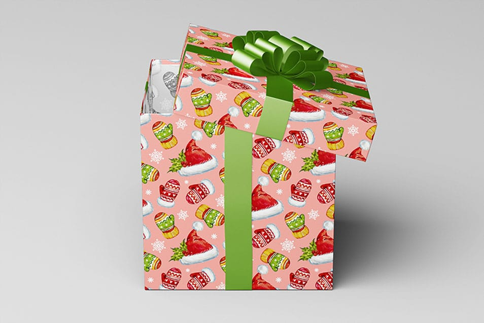 Square Gift Box / Package Mock-Up