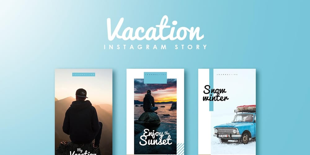 Vacation Instagram Story Template PSD