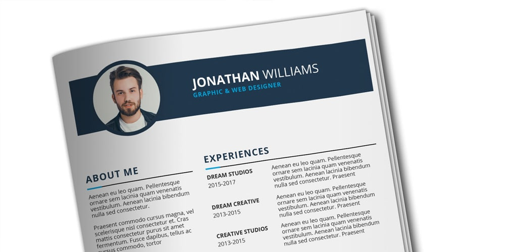 CV and Resume Template PSD